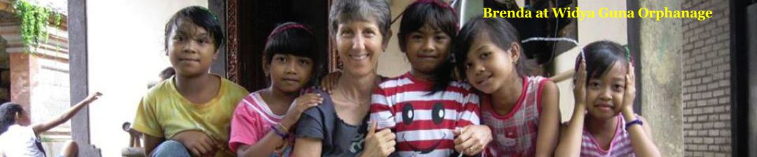 Brenda at Widya Guna Orphanage