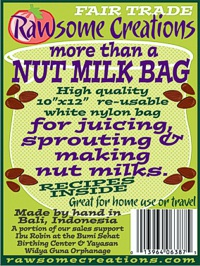 More than a Nut Milk Bag label