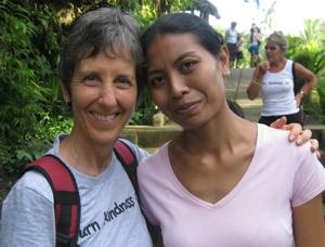 Brenda with Nyoman at the Orphanage