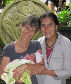 Brenda with Ibu Robin at Bumi Sehat, 2010