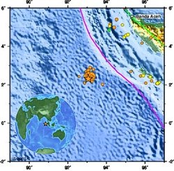 Magnitude 8.6 OFF W COAST OF NORTHERN SUMATRA, Wednesday, April 11, 2012 at 08:38:38 UTC