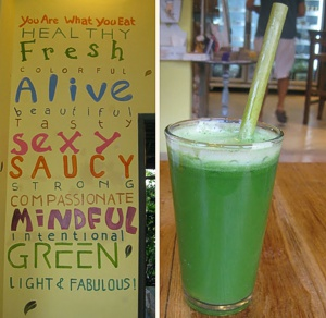Green Juice at Alchemy Cafe in Bali