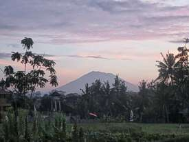 Mount Agung at sunrise. Photo by Brenda Hinton, Bali, November 2013