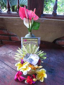 Blessings on our Rawsome Creations. Photo by Brenda Hinton, Bali, November 2013