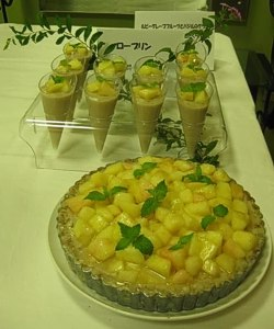 Kazue's Peach Pudding.....OMG......Loved it !! - Tokyo, August 2011