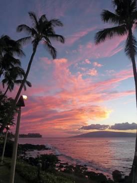 Maui Sunset. Photo by Brenda Hinton, Maui, November 2013
