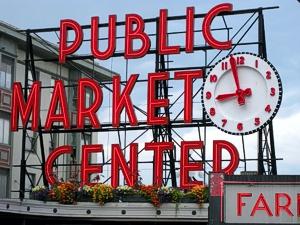 Pike Place Public Farmers Market in Seattle, Washington