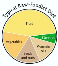 Typical Raw Foodist Diet from The First Green Smoothie by Victoria Boutenko