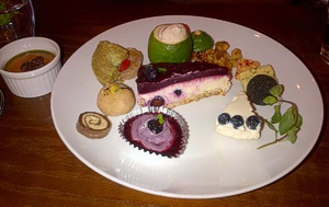 A delicious plate of raw food, Japan, September 2012