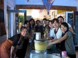 Conscious Eating Food Prep class. October 2011 -- California / Arizona Tour for Japan Living Beauty Association