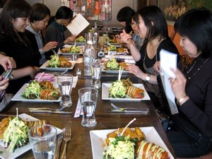 a meal at 118 Degrees. October 2011 -- California / Arizona Tour for Japan Living Beauty Association