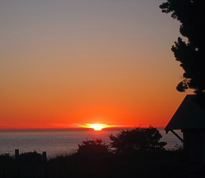 October Sunset in Caspar by Sienna, one of my websters -- photo by Sienna M Potts