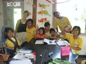 Brenda Hinton at Widya Guna Orphanage