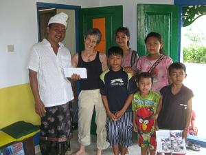 Brenda Hinton with Nyoman and friends at Widya Guna Orphanage